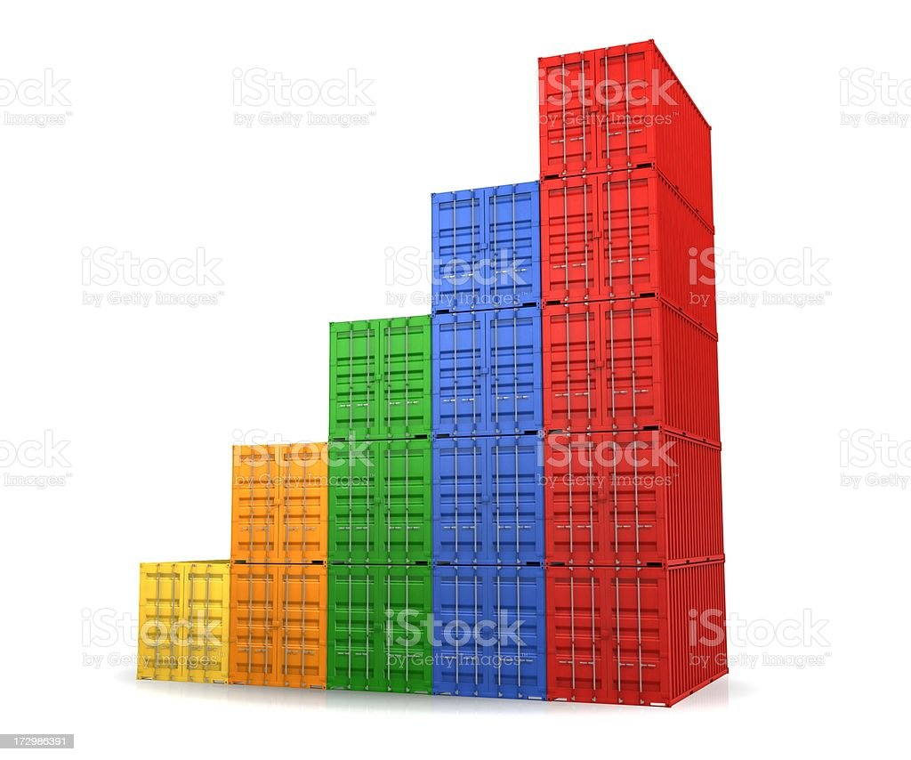 Shipping container graph royalty-free stock photo