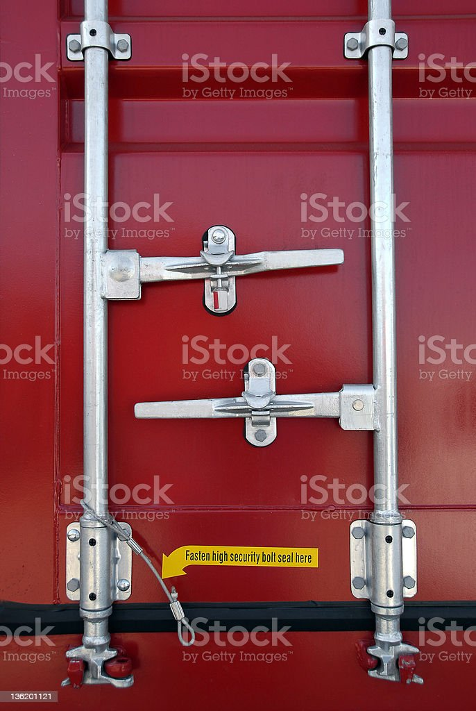 Shipping Container Security stock photo