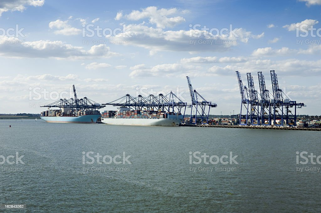 Shipping Container Terminal stock photo
