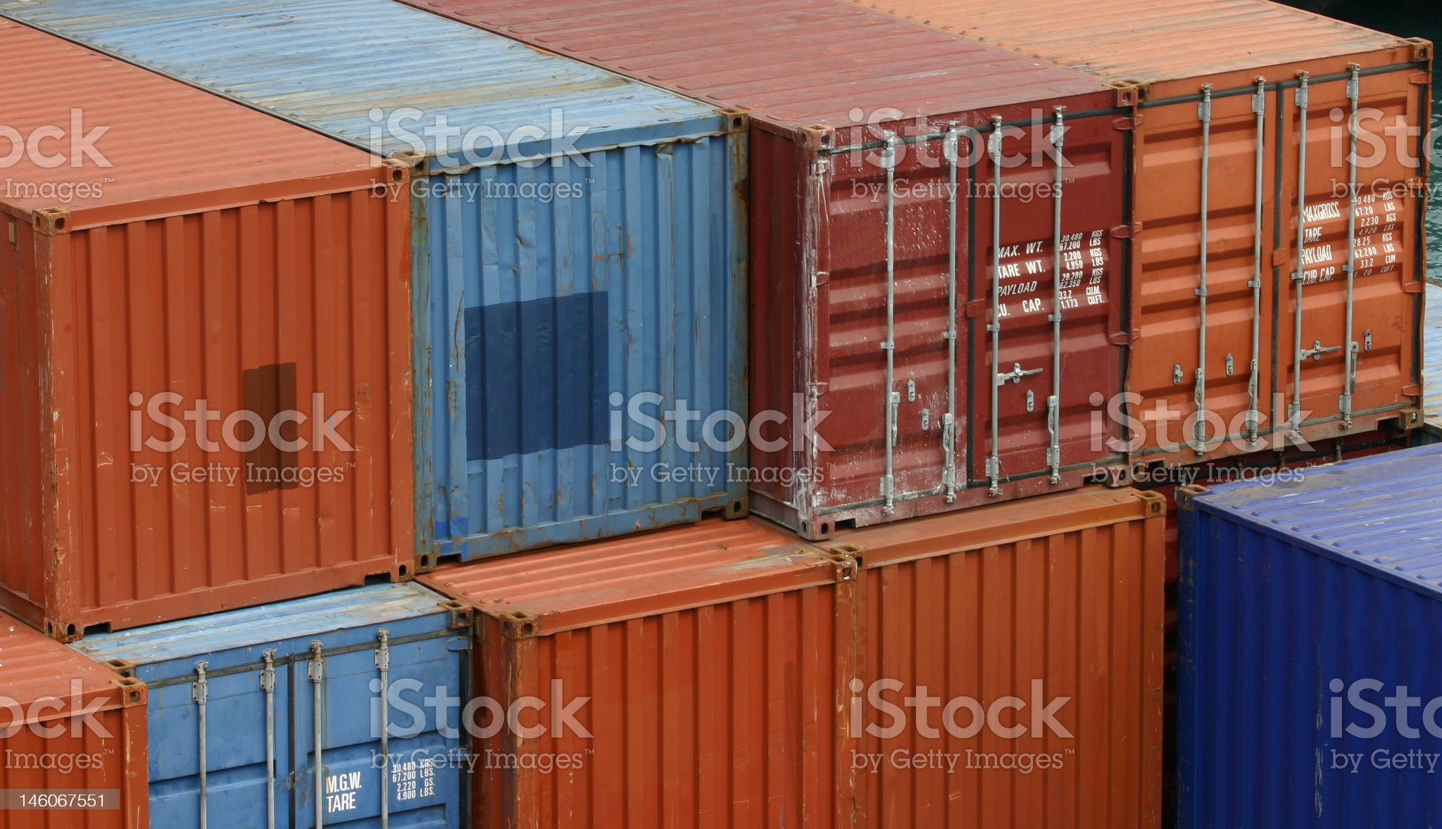 Shipping containers royalty-free stock photo