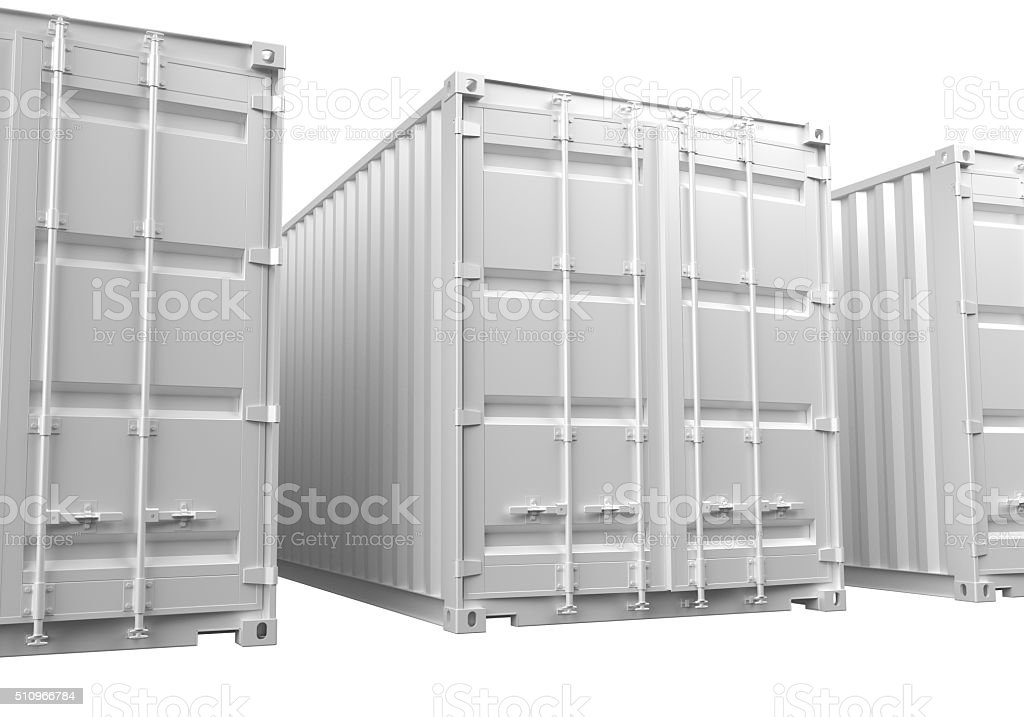ISO Shipping Containers stock photo