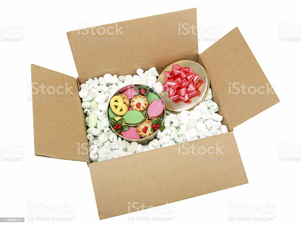 Shipping Cookies with Path royalty-free stock photo