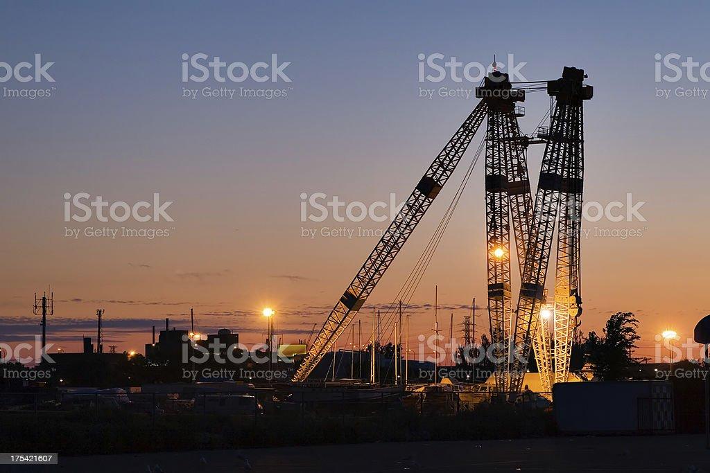 shipping crane stock photo