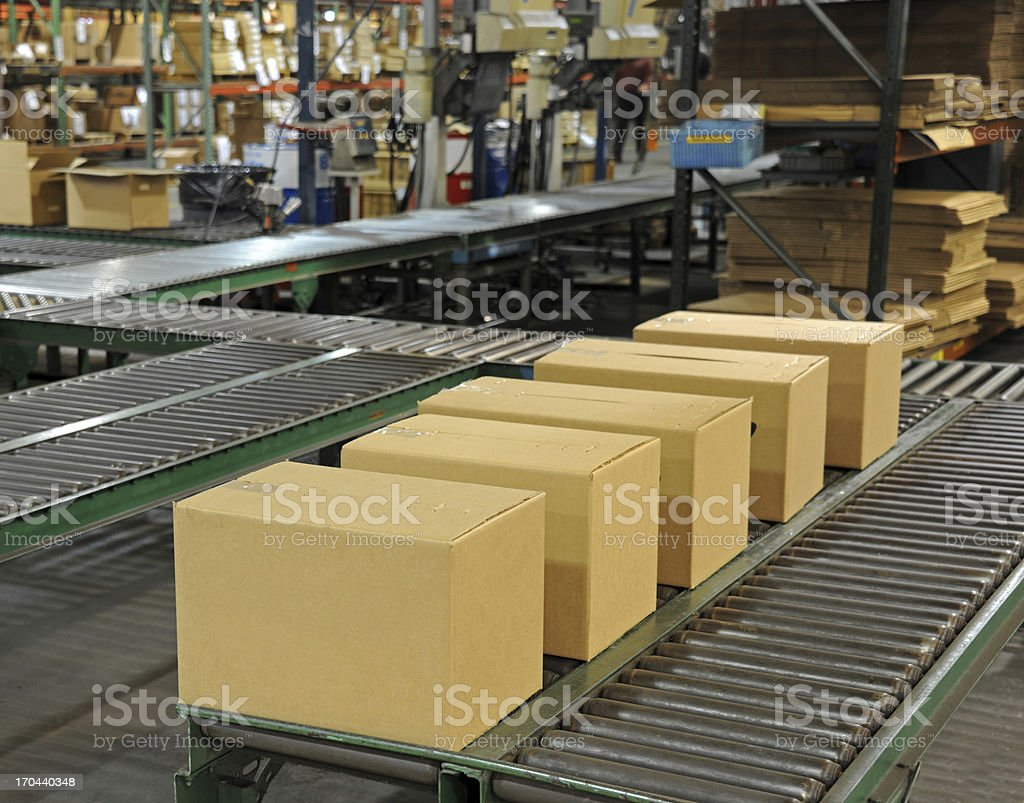 Shipping Department stock photo