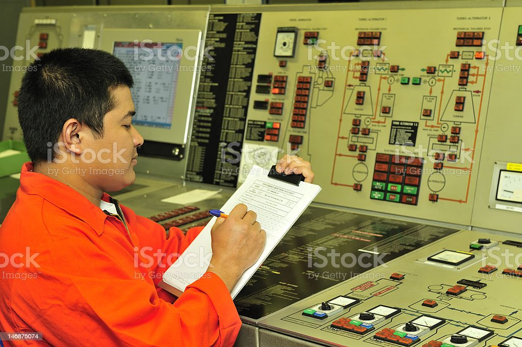 Shipping engineer royalty-free stock photo