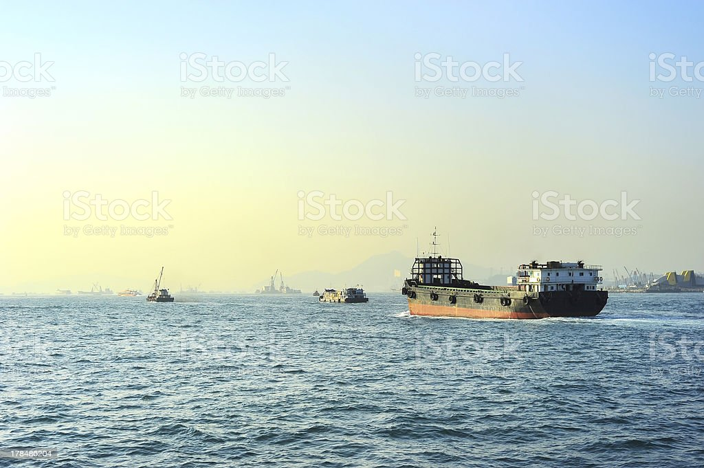 Shipping in Hong Kong royalty-free stock photo