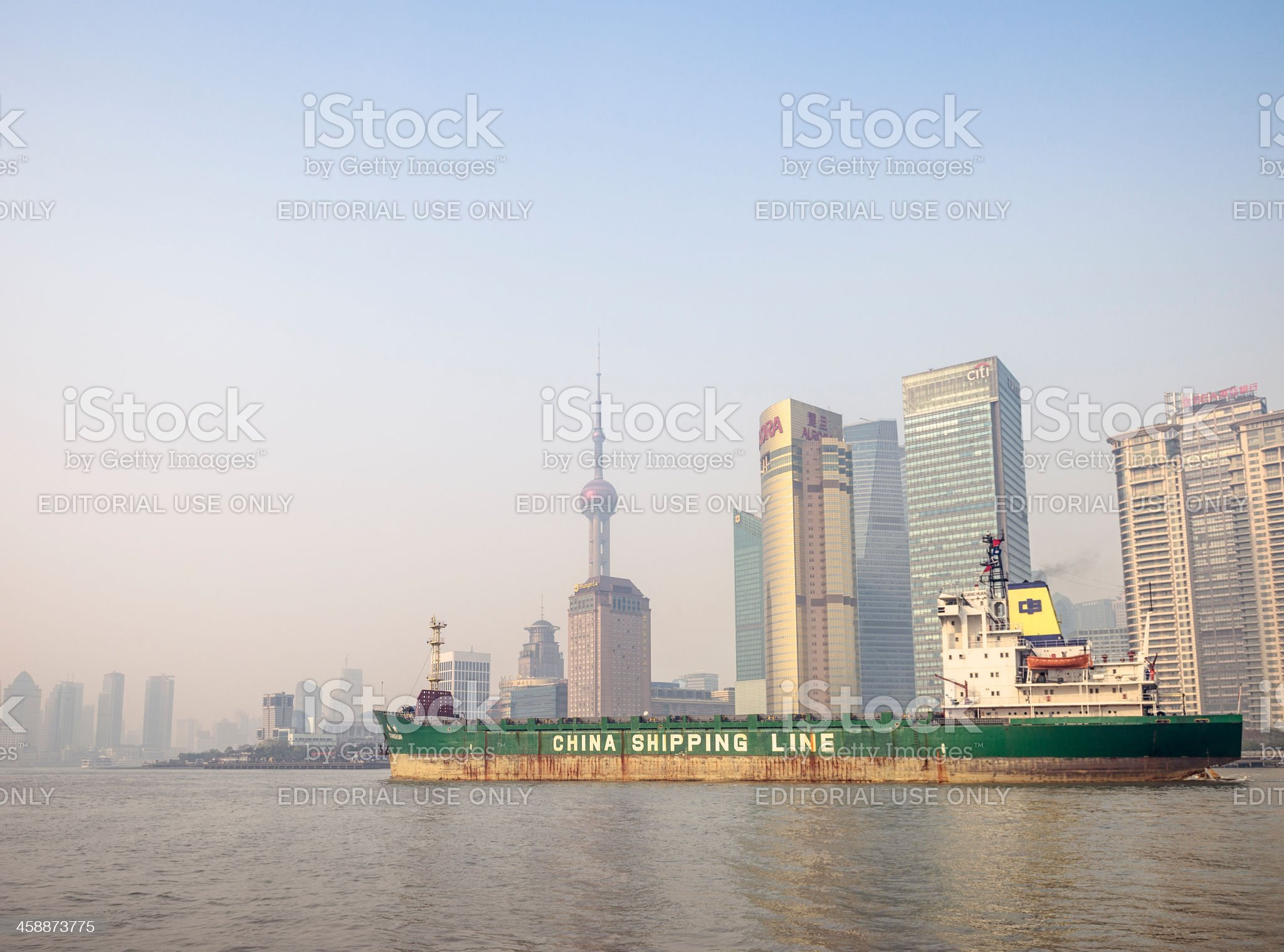 Shipping in Shanghai royalty-free stock photo