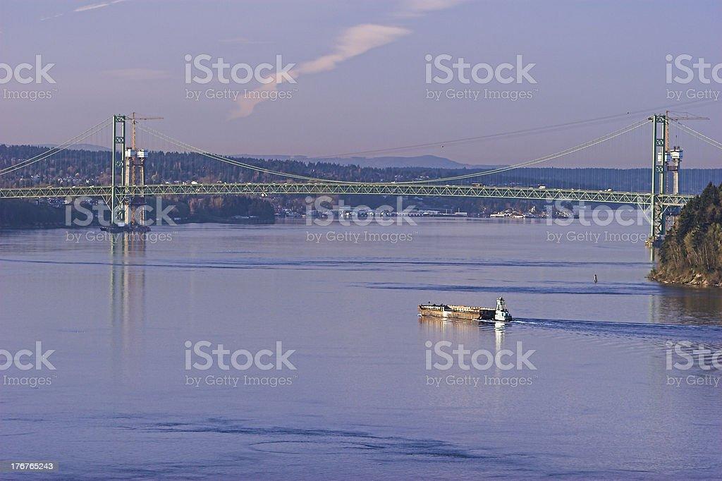Shipping in Tacoma Narrows royalty-free stock photo