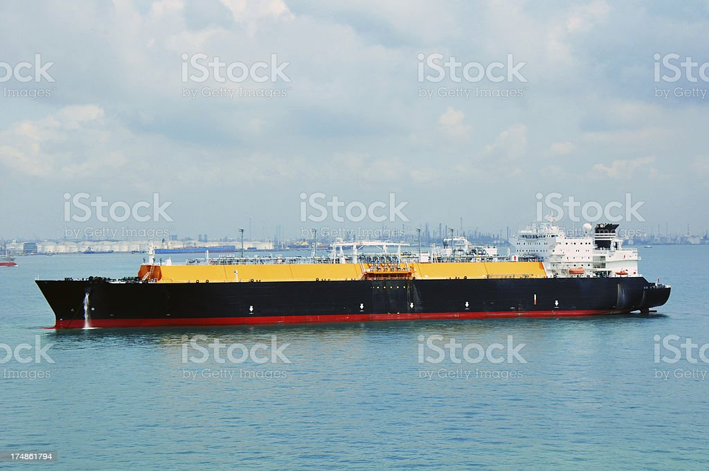 Shipping industry - LNG Tanker royalty-free stock photo