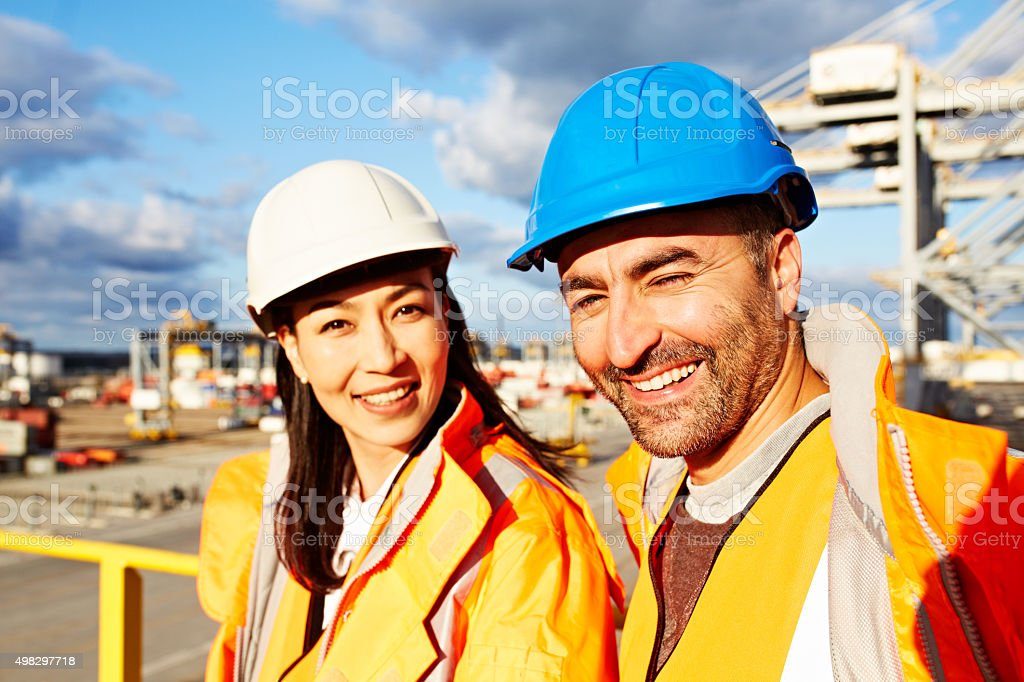 Shipping is our business and business is good! stock photo