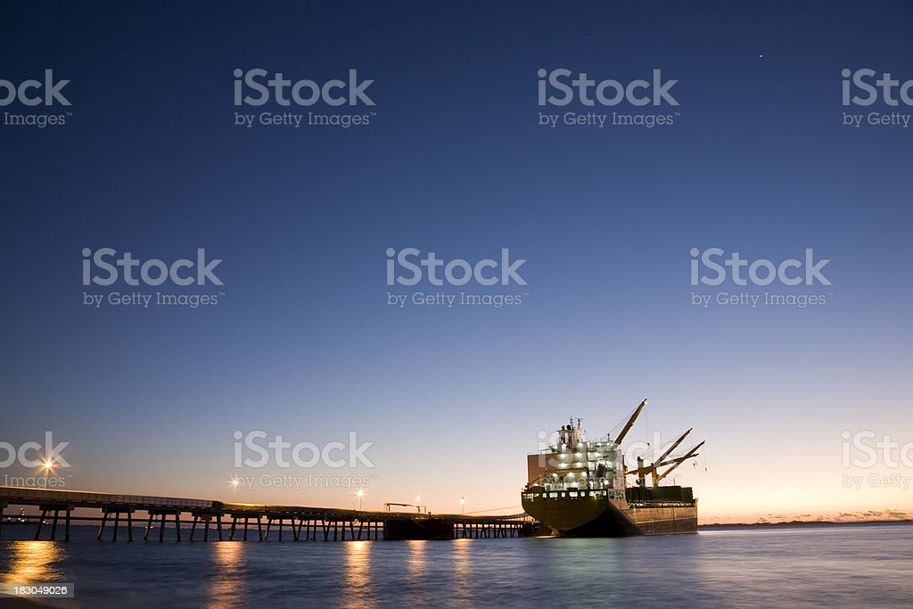 Shipping Jetty stock photo