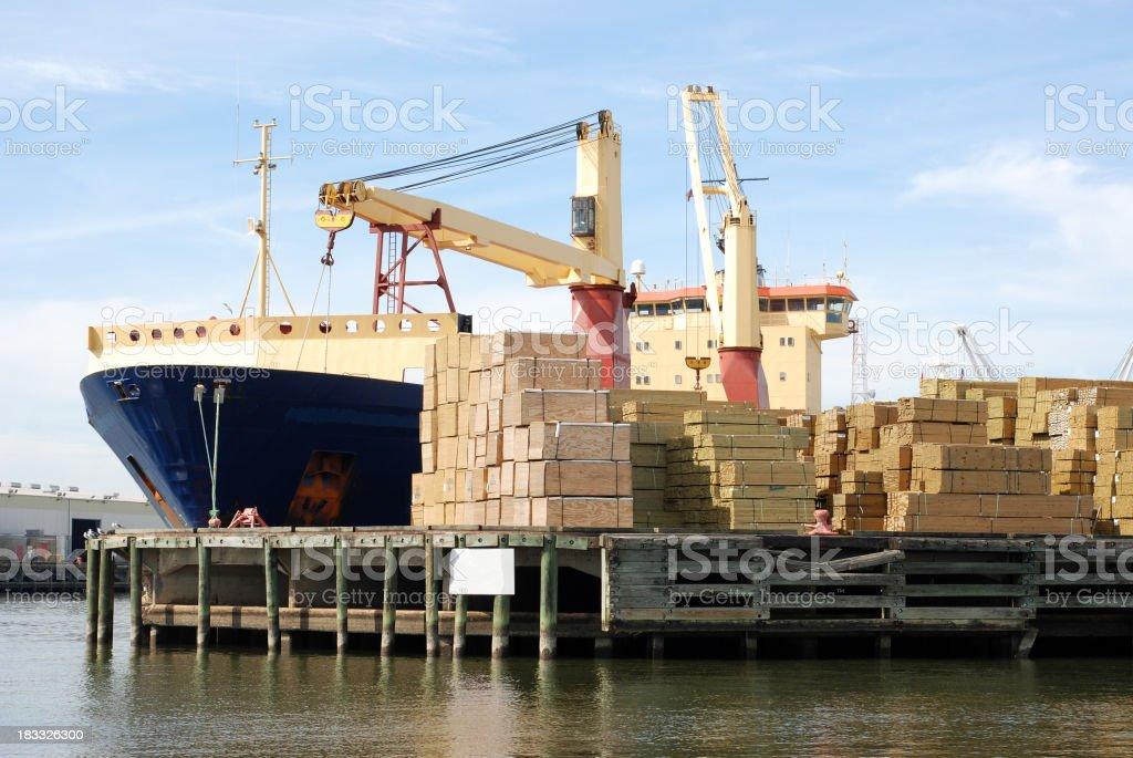Shipping Lumber royalty-free stock photo