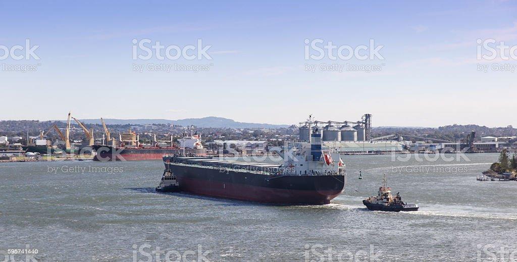 Shipping - Newcastle Harbour Australia stock photo