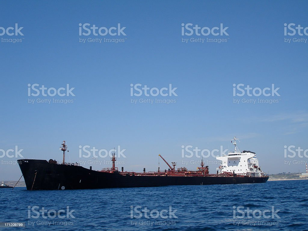 Shipping Oil to America royalty-free stock photo