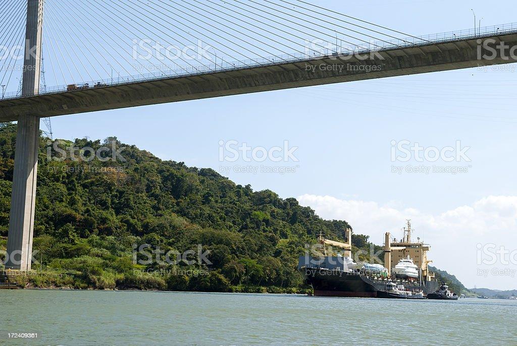 Shipping on Panama Canal royalty-free stock photo