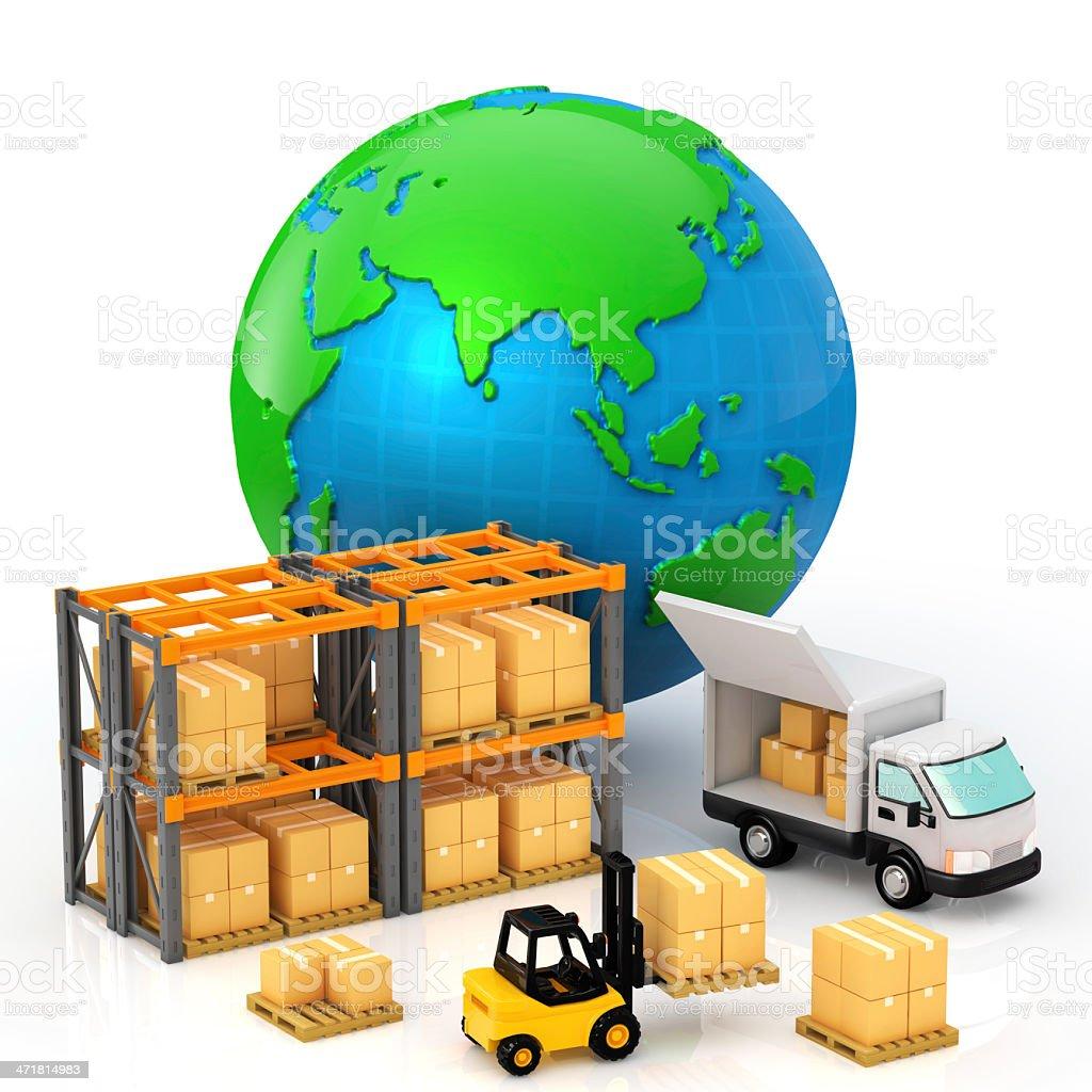 Shipping operation royalty-free stock photo