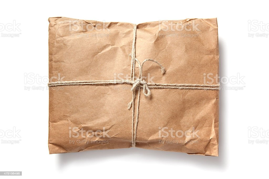 Shipping package stock photo