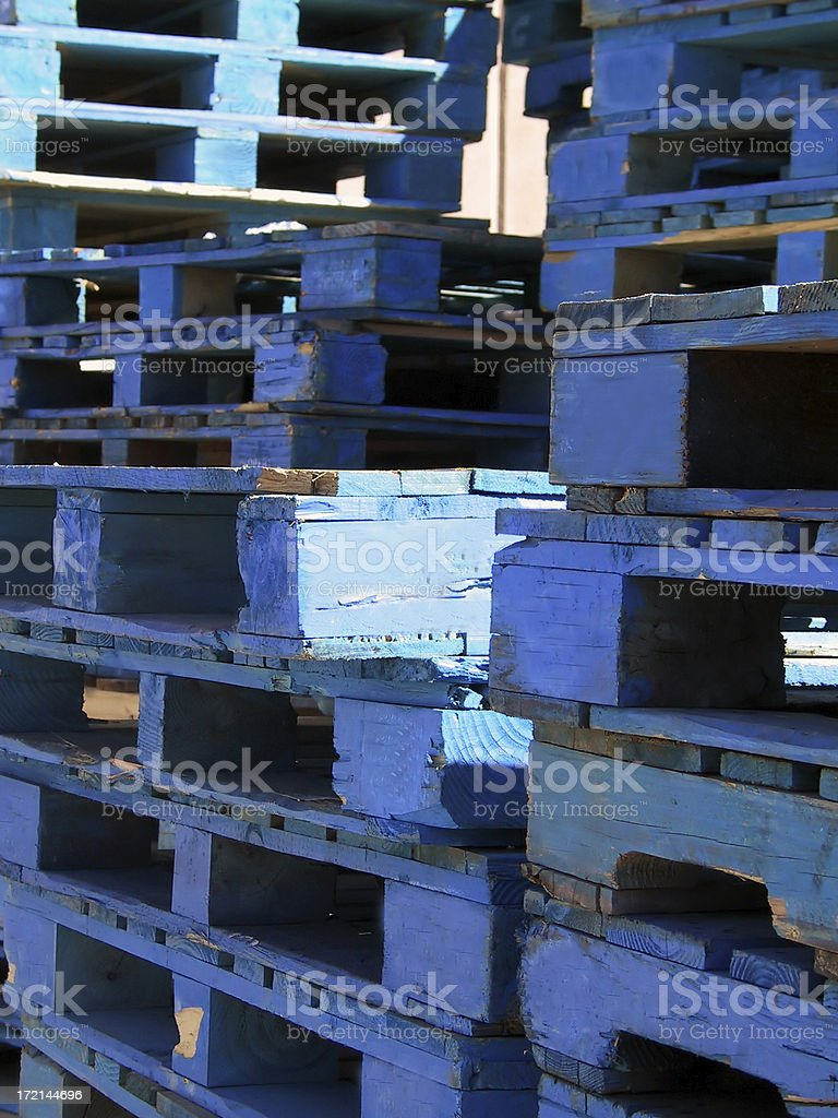 Shipping Pallets royalty-free stock photo