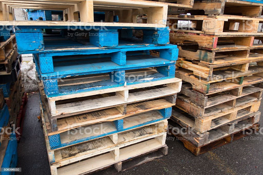 Shipping Pallets stock photo