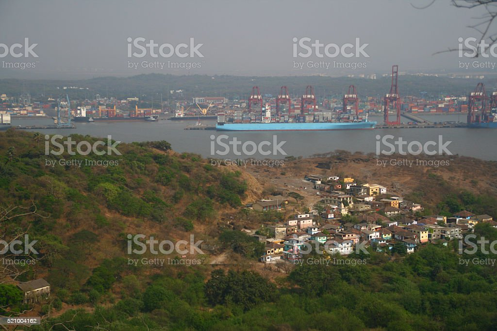 Shipping Port in India stock photo