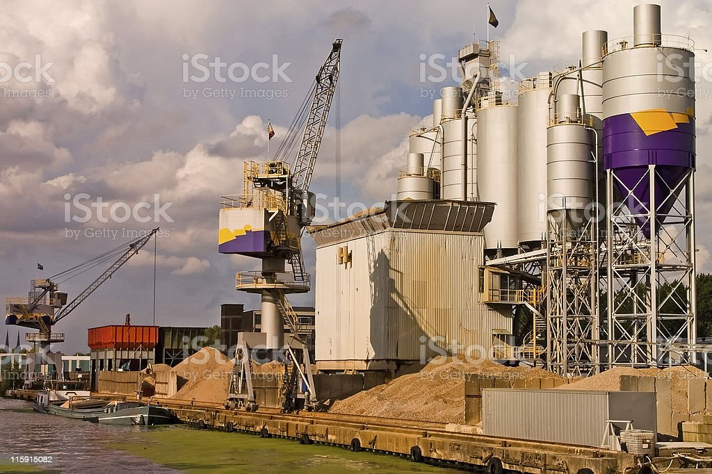 Shipping port royalty-free stock photo