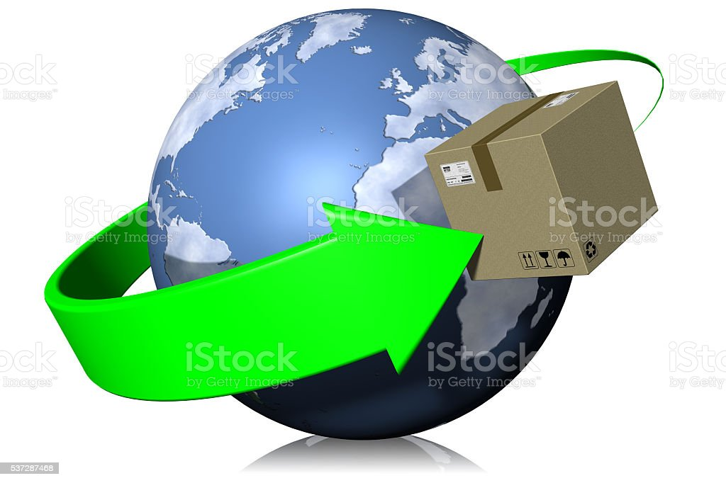 Shipping Worldwide stock photo