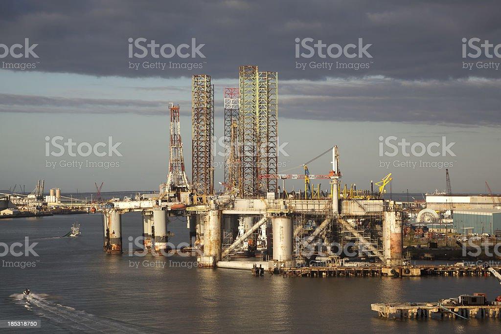 Shipping Yard stock photo