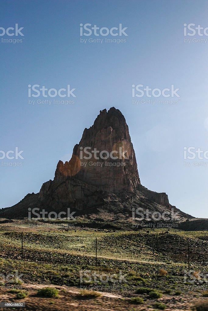 Shiprock New Mexico stock photo