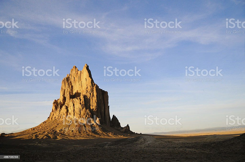 Shiprock, New Mexico stock photo
