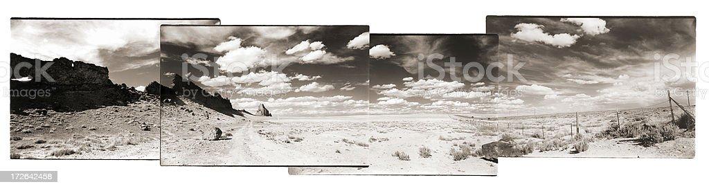 shiprock panorama stock photo
