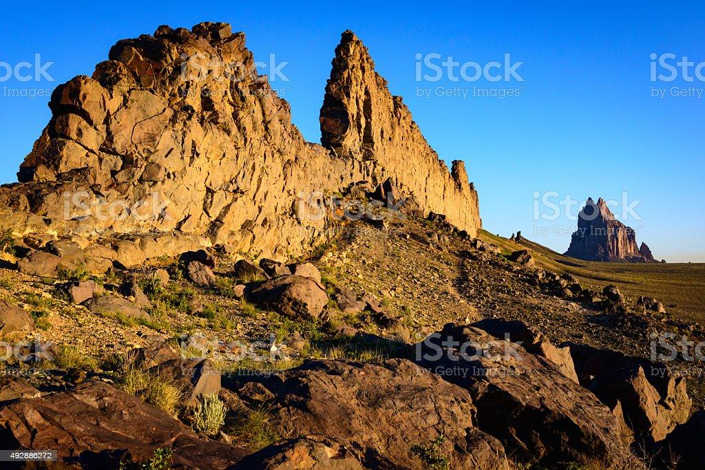 Shiprock stock photo