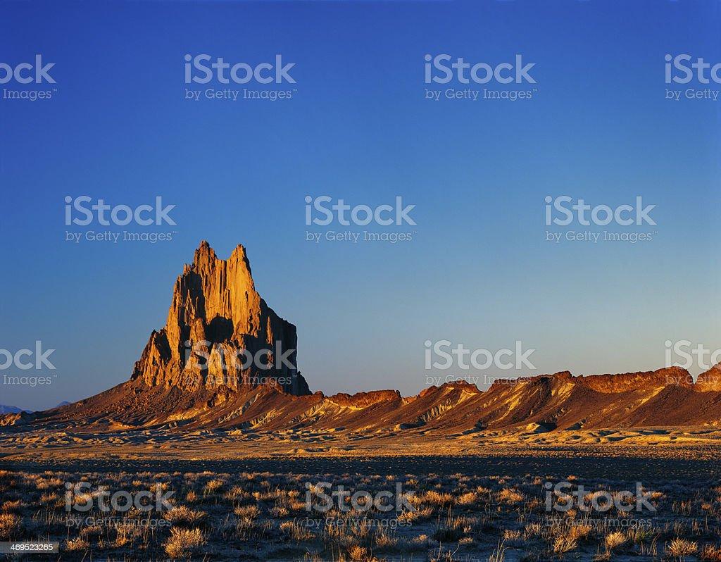 Shiprock Sunset stock photo