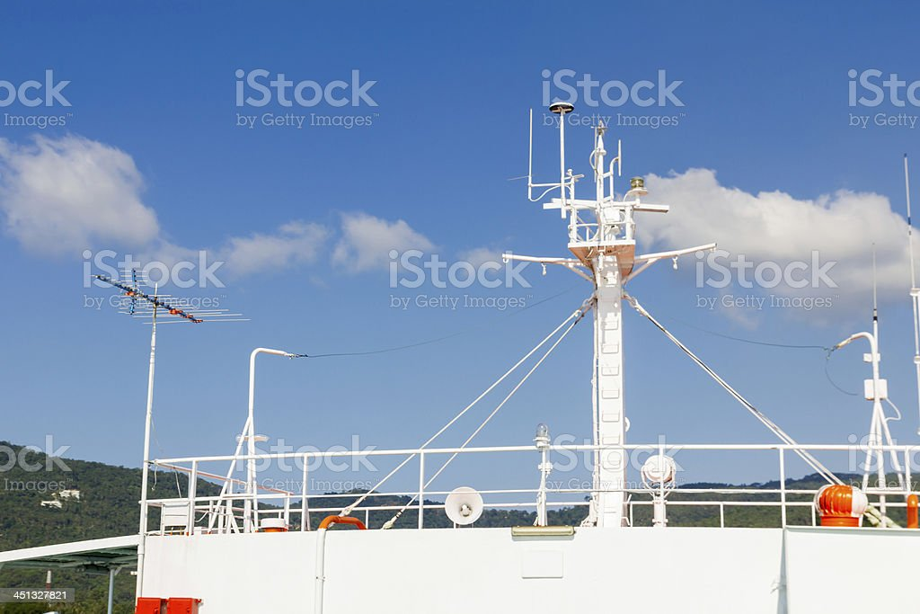 Ships antenna royalty-free stock photo