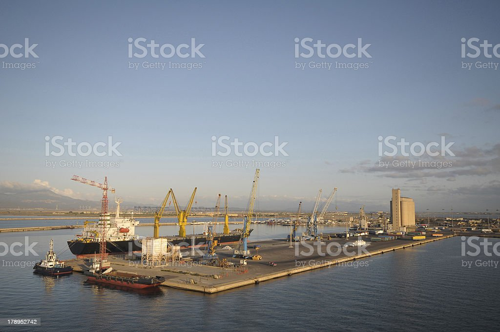 ships at the port stock photo