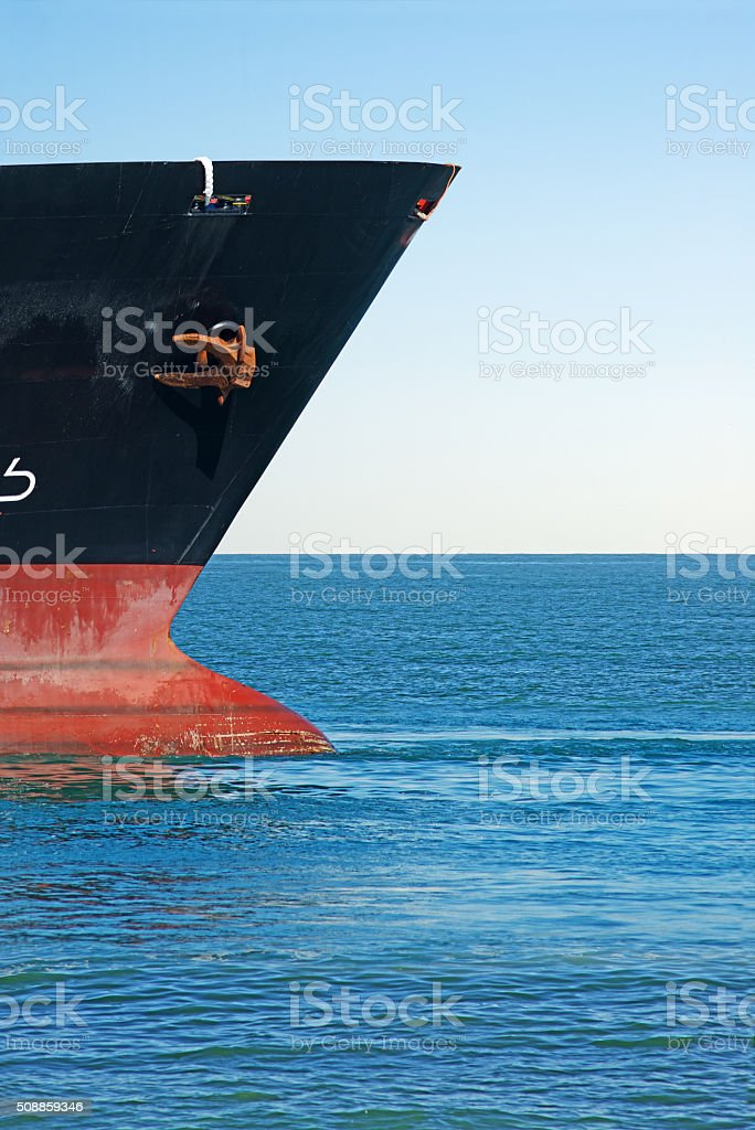 Ship's Bow stock photo