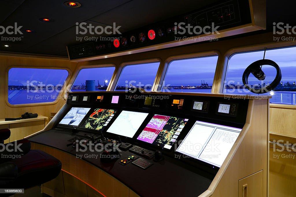 ship's bridge yacht recreational boat royalty-free stock photo