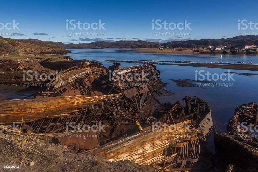 ships graveyard stock photo