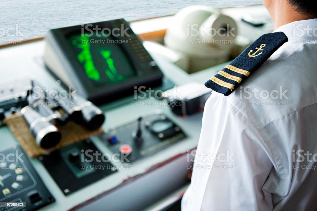 Ship's Helm stock photo