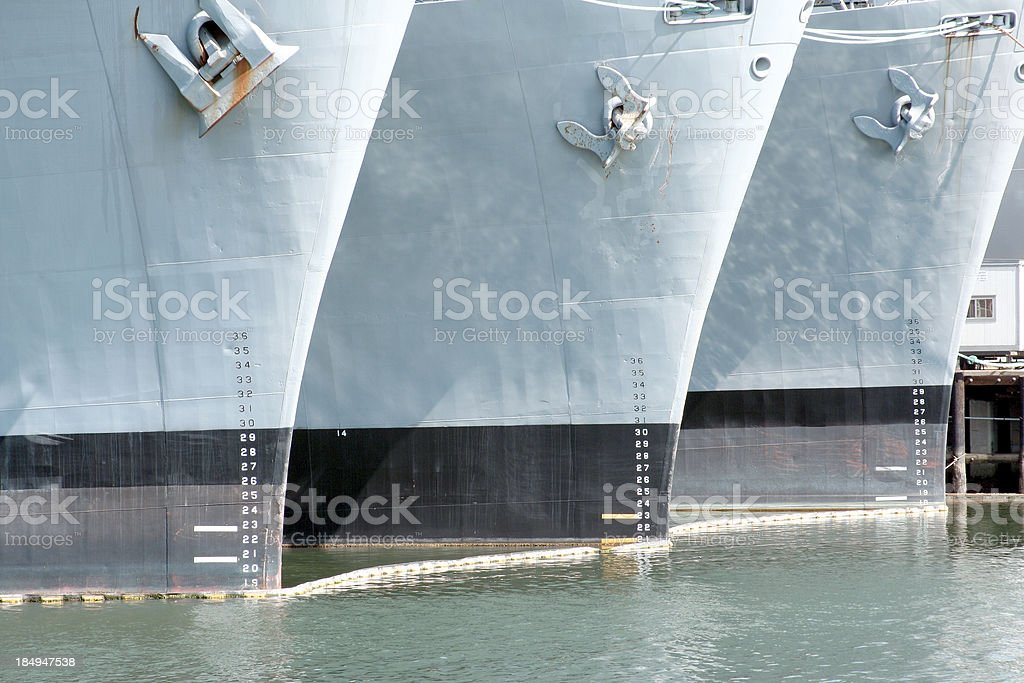 Ships in a row royalty-free stock photo