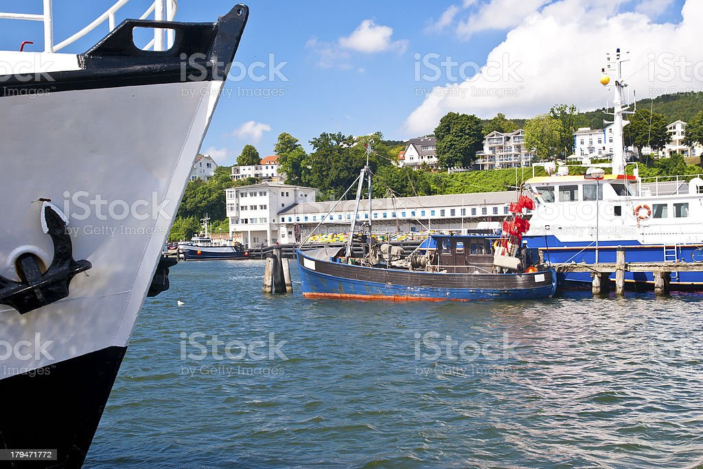Ships in harbor royalty-free stock photo