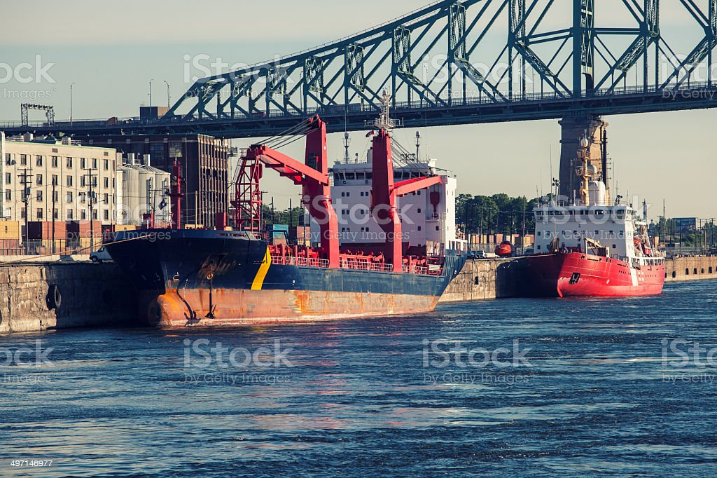 ships in port royalty-free stock photo