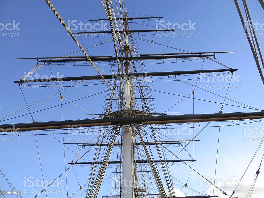 Ship's mast stock photo