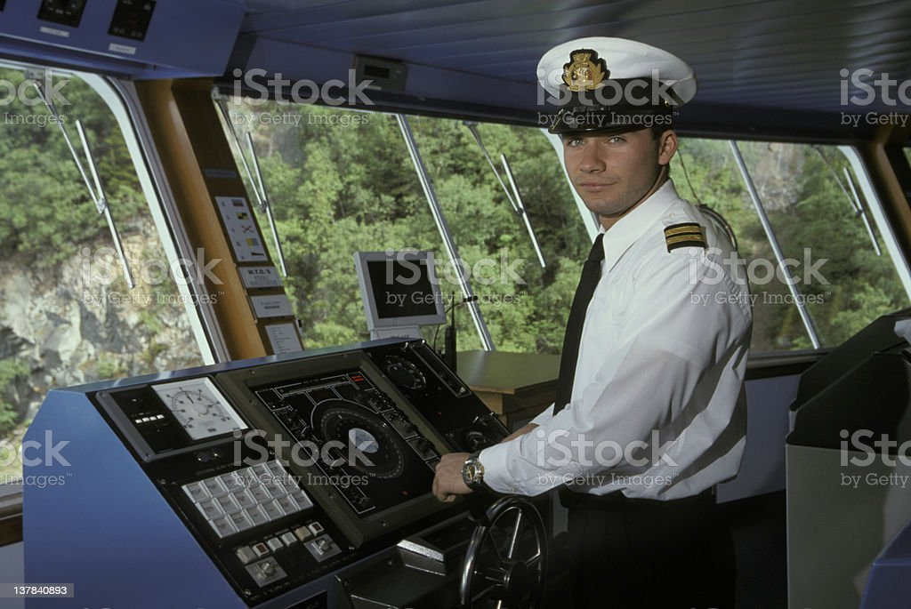 Ships Officer stock photo