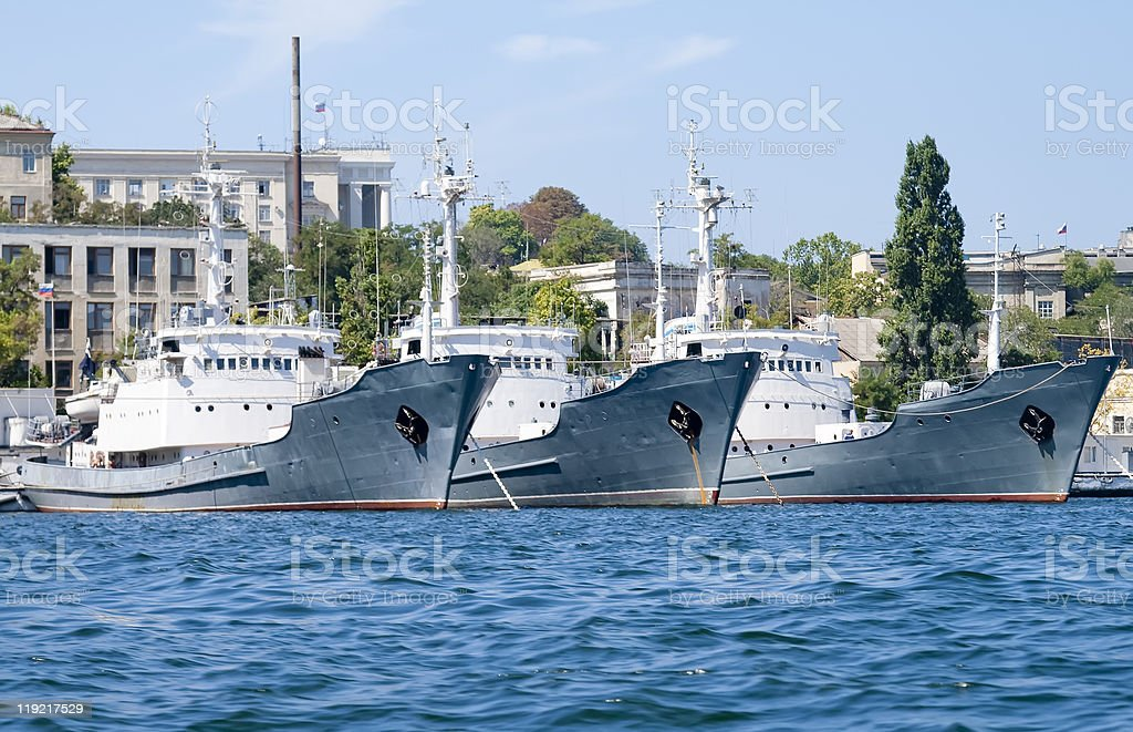 Ships on Black Sea royalty-free stock photo