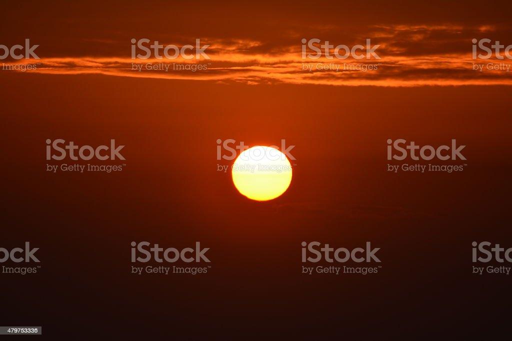 Schiffe auf den Sonnenuntergang Lizenzfreies stock-foto