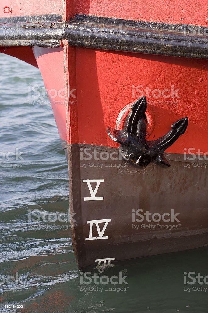 ship's plimsol line royalty-free stock photo