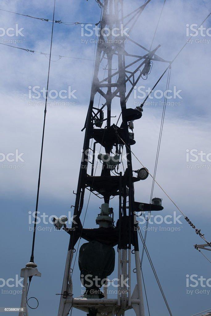 Ship's pole stock photo