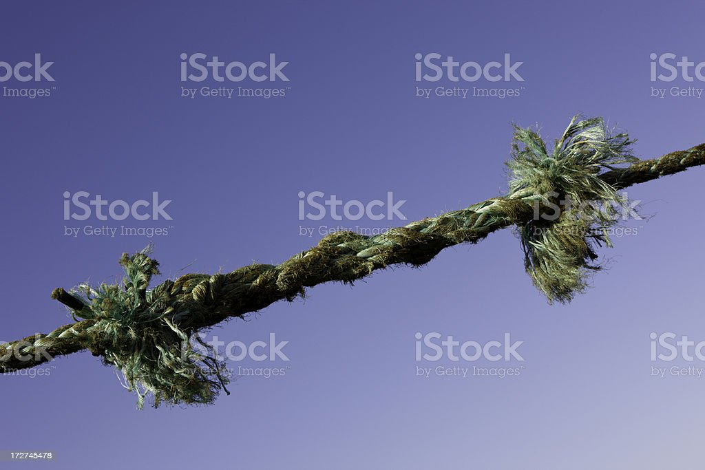 Ship's Rope royalty-free stock photo