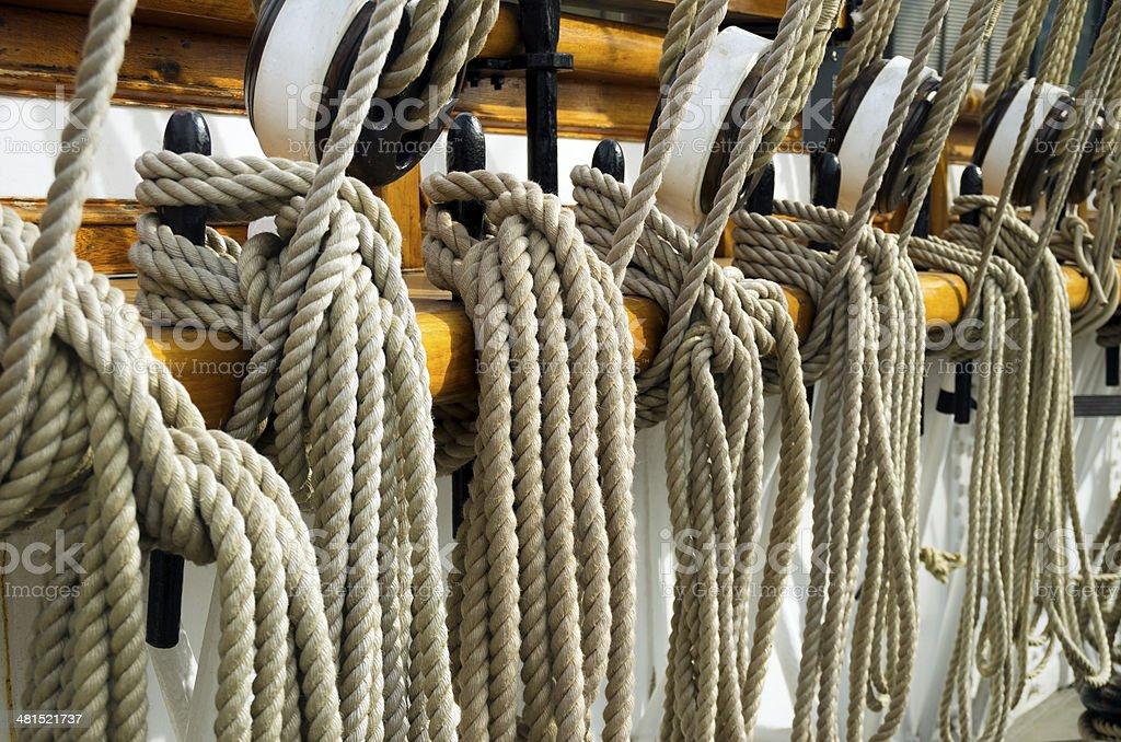 Ship's ropes royalty-free stock photo