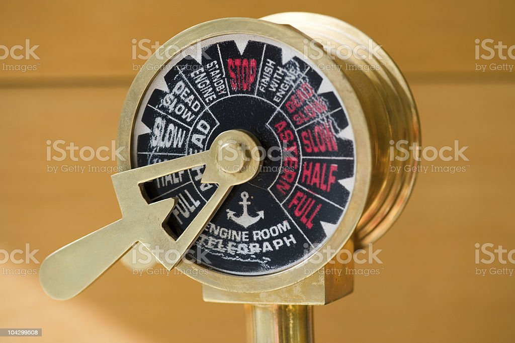 Ship's telegraph stock photo